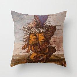 Vintage Illustrative Map of Scotland (1794) Throw Pillow