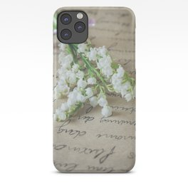 Love letter with lily of the valley iPhone Case