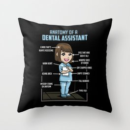 Anatomy Of A Dental Assistant Throw Pillow