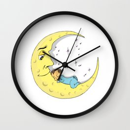 Baby Moon Wall Clock