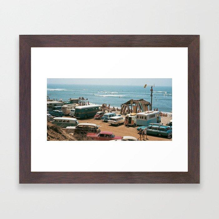 Vintage Beach Framed Art Print
