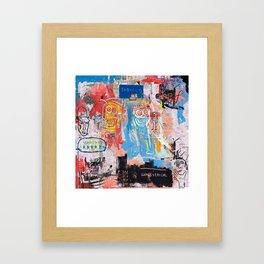 Basquiat Style 2 Framed Art Print