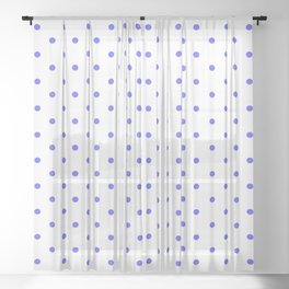 Dotted (Blue & White Pattern) Sheer Curtain