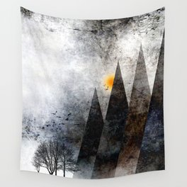 TREES under MAGIC MOUNTAINS VIII-c Wall Tapestry