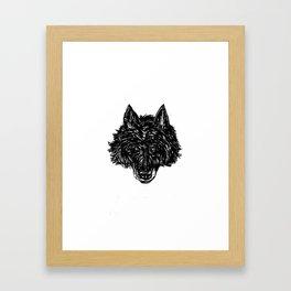 Wolf's Head Framed Art Print
