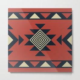 Aztec pattern Metal Print