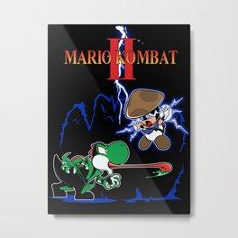 MARIO KOMBAT II title Metal Print