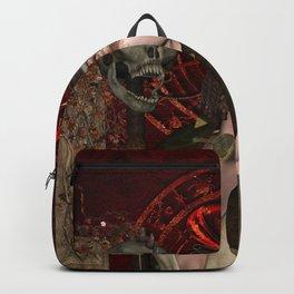 Wonderful dark fairy with skull Backpack