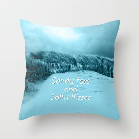 Sand and Kisses Throw Pillow