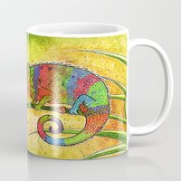 chameleon Mugs featuring Chameleon  by Georgia Roberts