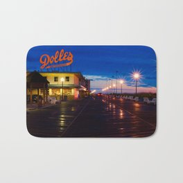 Early Morning at Dolles Coastal Landscape Photograph - Boardwalk Artwork Bath Mat