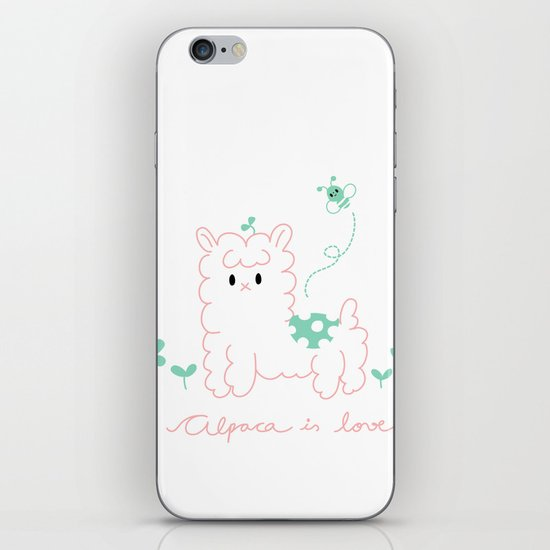 Alpaca is love iPhone & iPod Skin