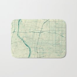 Albuquerque Map Blue Vintage Bath Mat