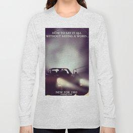 vintage 1980s car ad Long Sleeve T-shirt