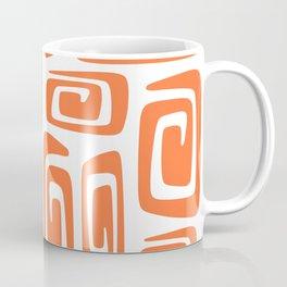 Mid Century Modern Cosmic Abstract 613 Orange Coffee Mug