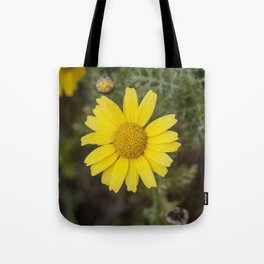 Daisy flower cu yellow Tote Bag