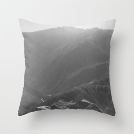 Top of the Rockies B&W Throw Pillow