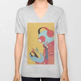 Cyber Projector Unisex V-Neck