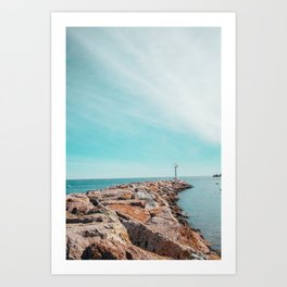 Far Off Coast Art Print