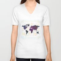 map V-neck T-shirts featuring Map by famenxt