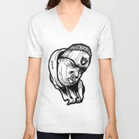 biggie smalls V-neck T-shirts featuring Biggie Smalls Notorious Raiders  by sketchnkustom