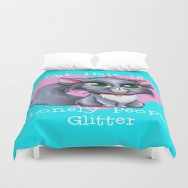 Cat Hair is Lonely People Glitter Duvet Cover