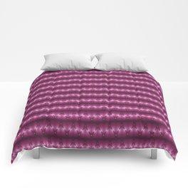 Pink Satin Rolls Pattern Comforters