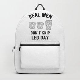 Real Men Don't Skip Leg Day Manual Stickshift Driver Backpack