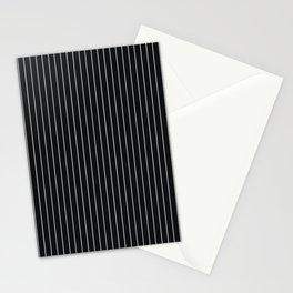 Black Linen Sterling Luna Song Pinstripe Stationery Cards