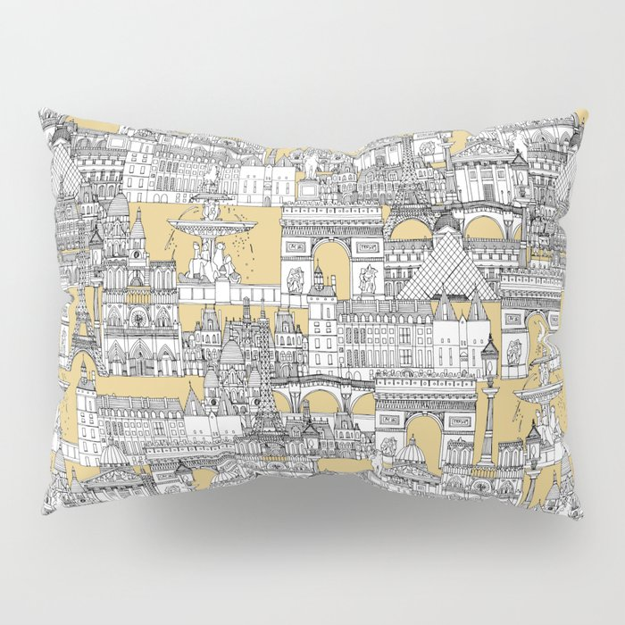 Paris toile gold Pillow Sham