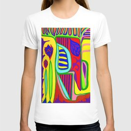 Abstract flower and shapes T-shirt