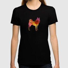 Russian European Laika in watercolor T-shirt