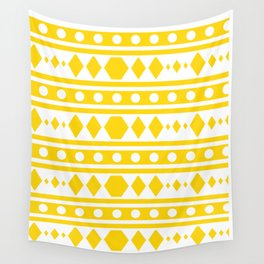 Tribal pattern Yellow Wall Tapestry