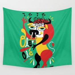 Toro loco - Crazy bull -Olé Olé - Spain Wall Tapestry