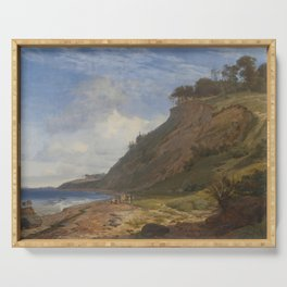 Johan Thomas Lundbye - A Danish Coast. View from Kitnæs by the Roskilde Fjord Serving Tray