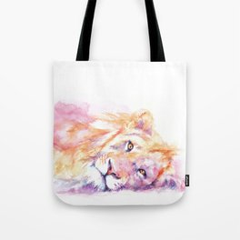 Lazy Days - African Lion Tote Bag