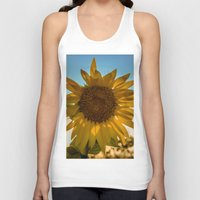 sunflower Tank Tops featuring Sunflower by Svetlana Korneliuk