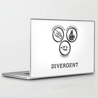 divergent Laptop & iPad Skins featuring Divergent (Black) by Lunil