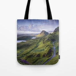 The Road to the Quiraing Tote Bag