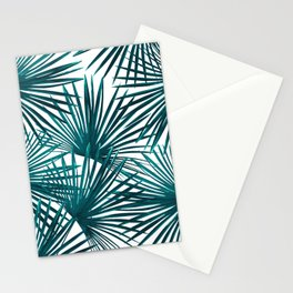 Tropical Fan Palm Leaves #3 #tropical #decor #art #society6 Stationery Cards