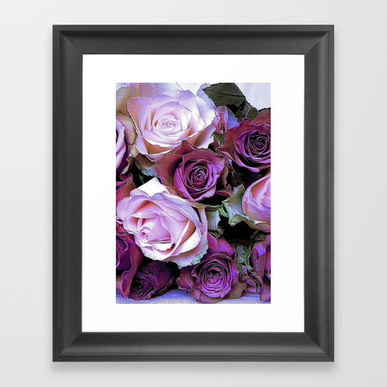 Romantic Roses Framed Art Print