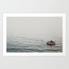 Lonely boat Art Print