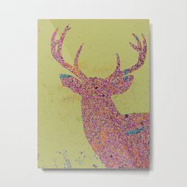 Moon Magic Buck Metal Print