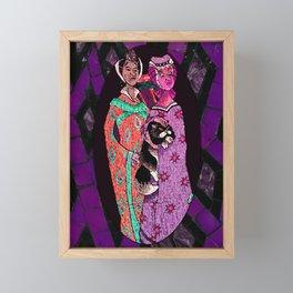 Ugly Sisters Mosaic Tiles Framed Mini Art Print