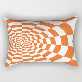 ORANGE CHECKERED Abstract Art Rectangular Pillow