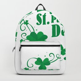 Happy St Saint Patrick's Day Backpack