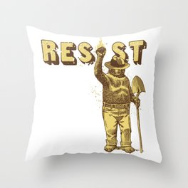 Smokey says Resist shirt Throw Pillow