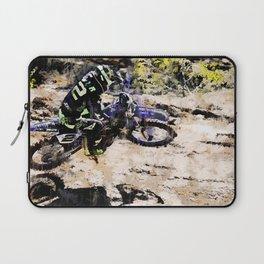 Wild Ride - Motocross Rider Laptop Sleeve