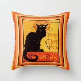 Tournee Du Chat Noir - After Steinlein Throw Pillow