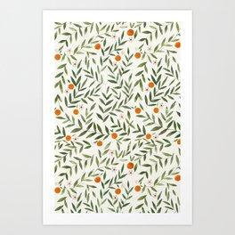 Oranges Foliage Art Print